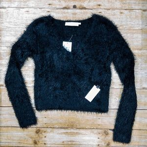 ASTR Black Fuzzy Sweater